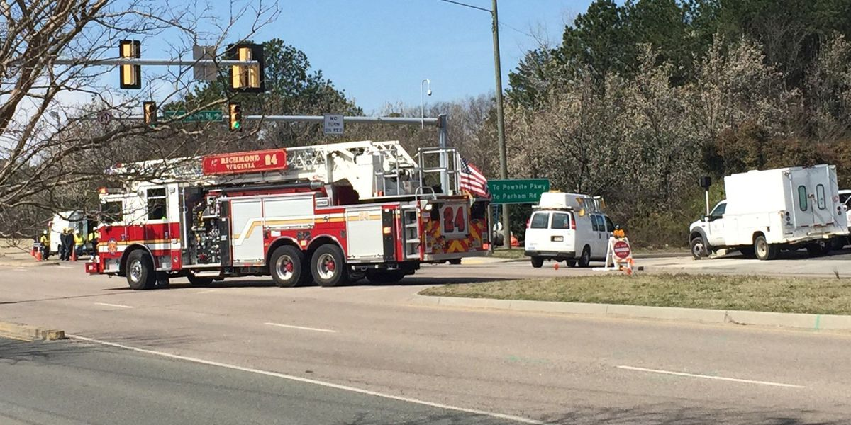 Forest Hill Avenue back open after gas leak near Chippenham Parkway