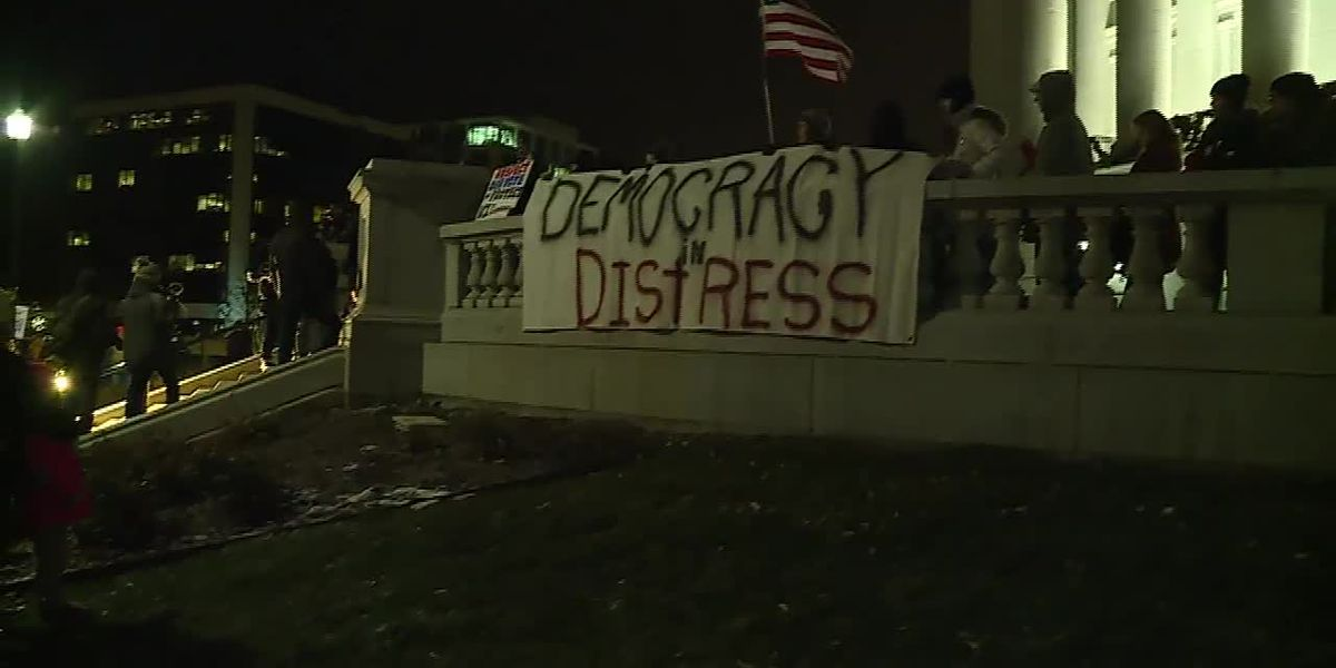 Protest of 'power grab' by Republicans in Wisconsin