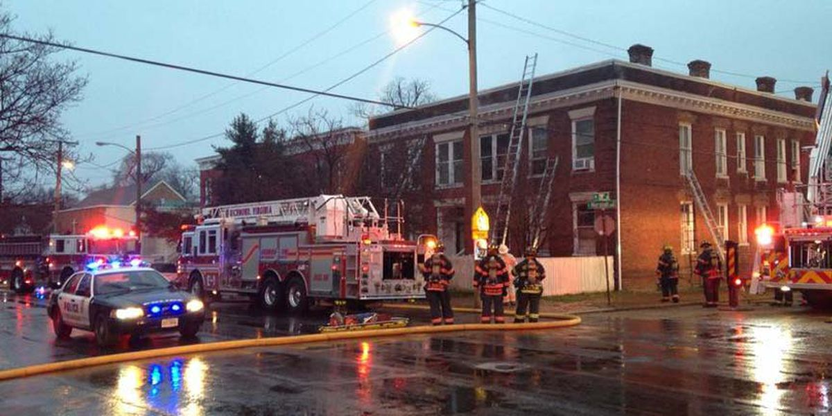 Firefighter taken to hospital in Church Hill apartment fire