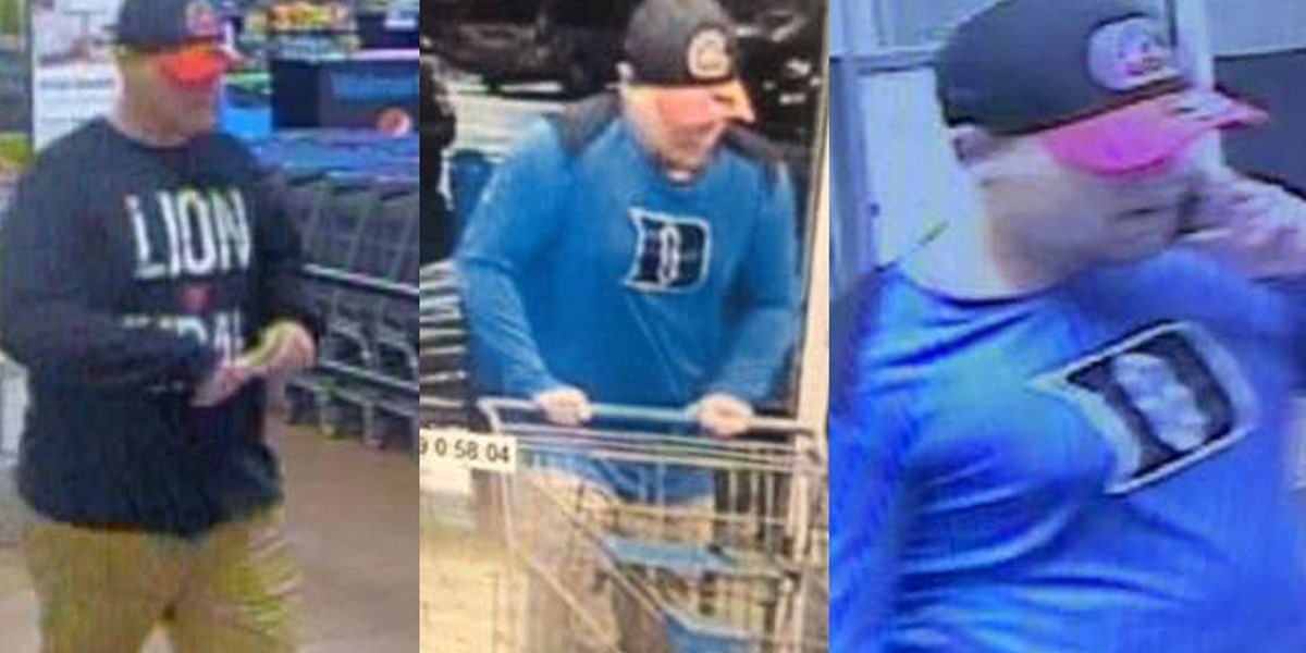 Man wanted for stealing electronic items from multiple Walmart stores