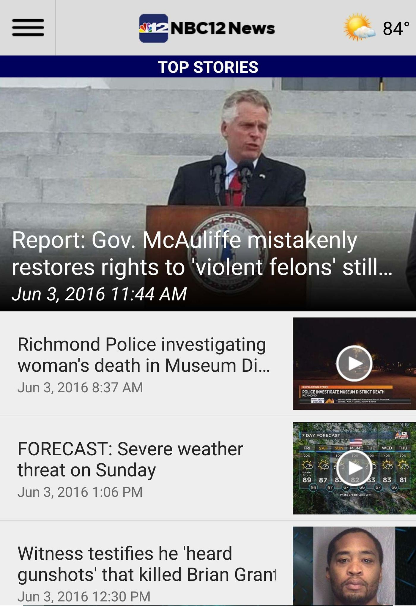 Download the NBC12 News and Weather Apps