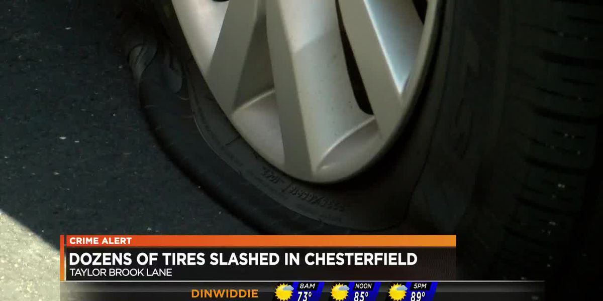 Dozens of car tires slashed in Chesterfield