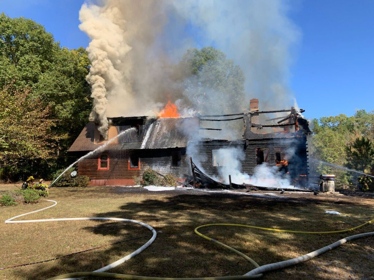 Chesterfield fire crews respond to massive house fire