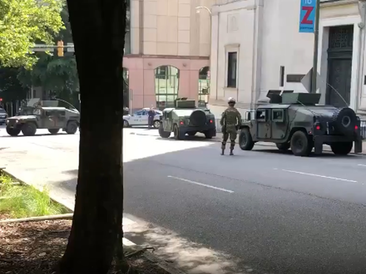 Virginia National Guard deployed in downtown Richmond
