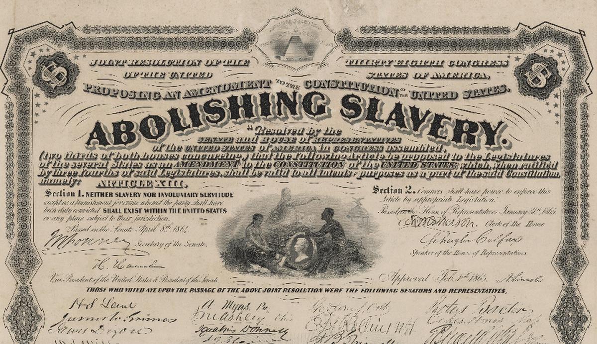 On This Day: 13th Amendment abolishing slavery is ...