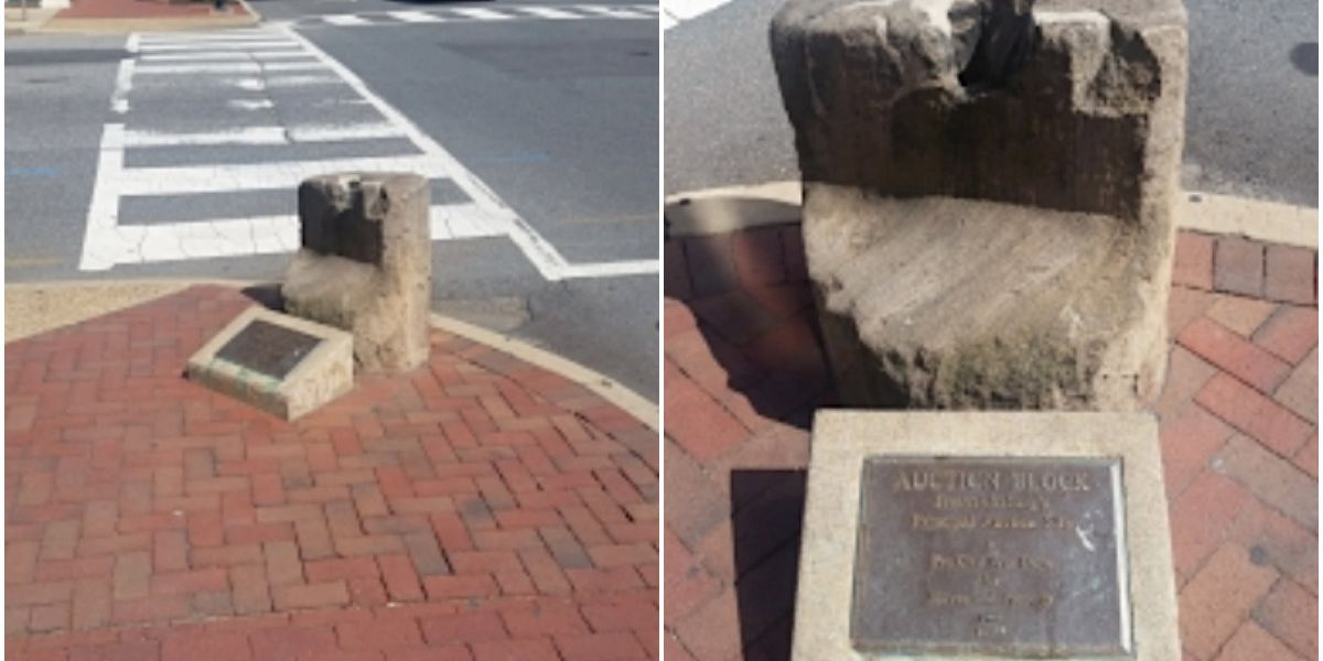Slave sale block set to be displayed in museum, with context