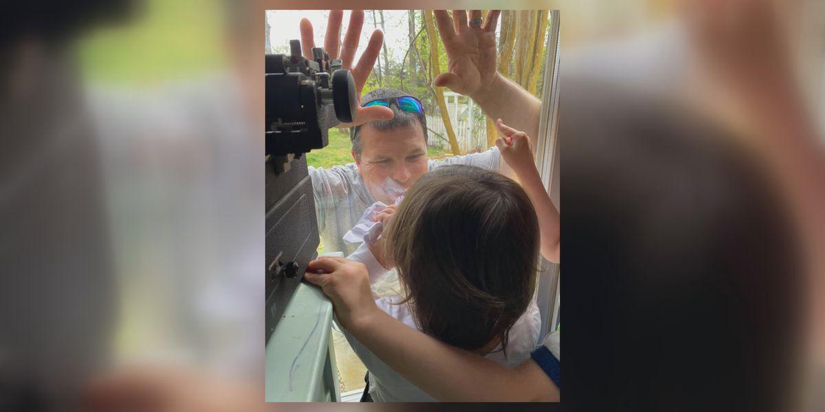 Family of ER nurse quarantining in RV celebrates Thanksgiving, despite distance