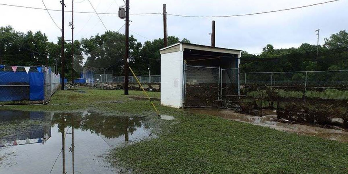 Lakeside Youth Baseball complex badly damaged by flooding
