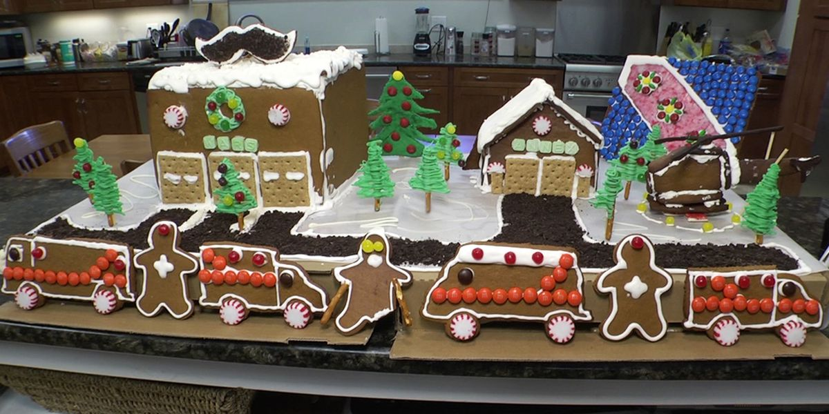 Western Albemarle Rescue Squad spends hours creating gingerbread replica of their station
