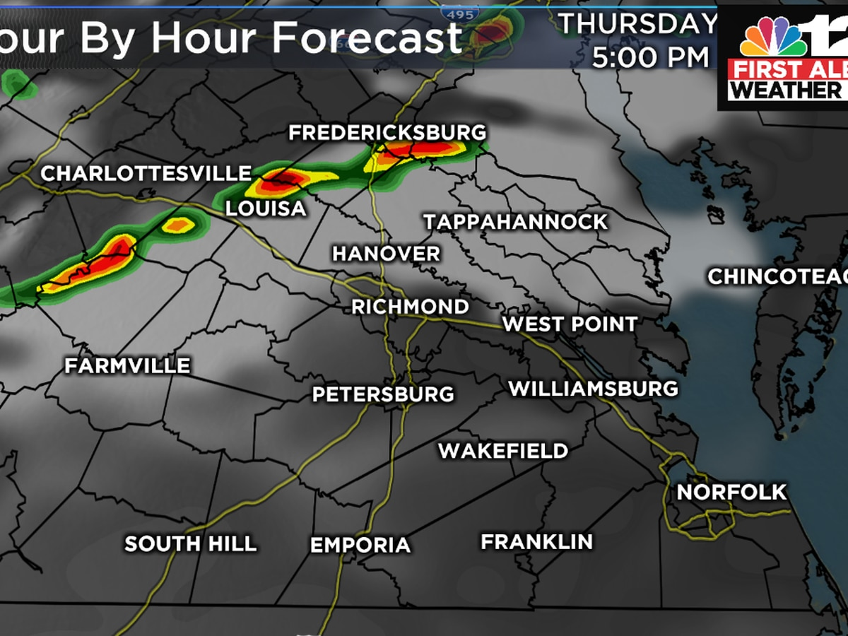 Parts of Virginia under a severe thunderstorm watch
