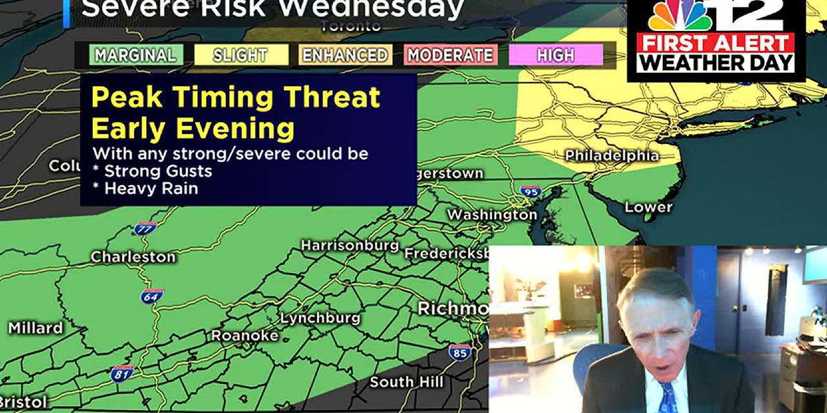 First Alert to more severe storms possible late Wednesday