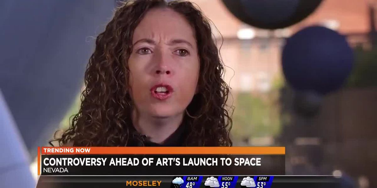 Controversial ahead of art's launch into space