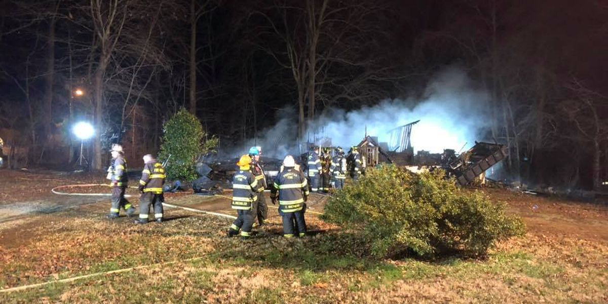 'It sounded like a bomb': Massive fire destroys home in Powhatan