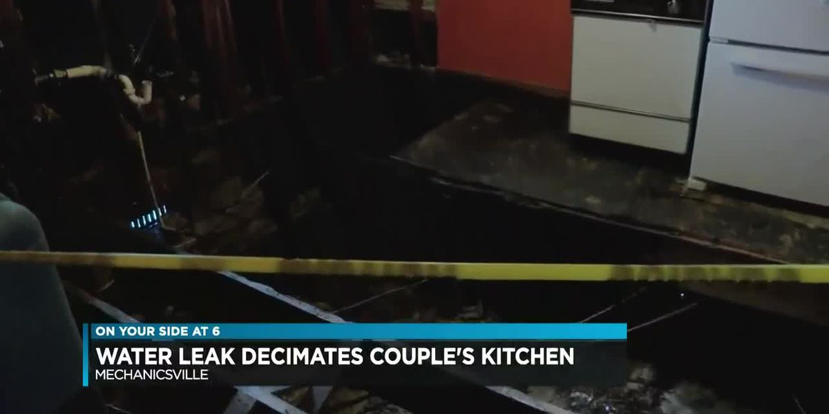 Water leak decimates couple's kitchen