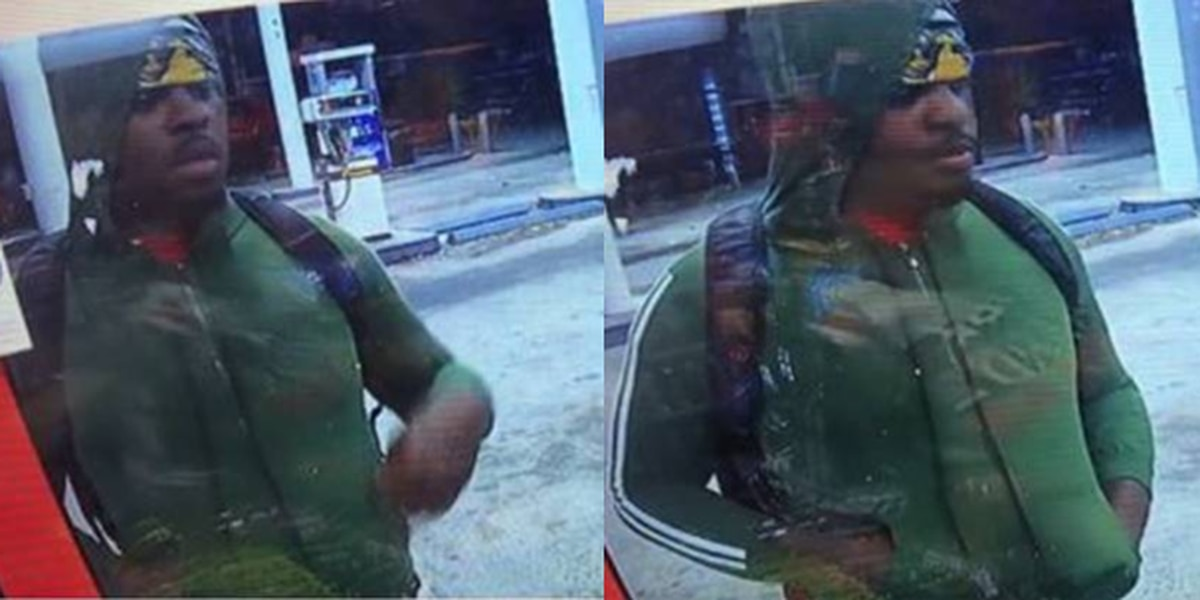 Police search for suspect who tried robbing gas station