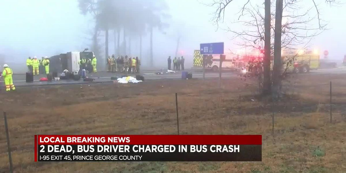 2 dead, Bus driver charged after bus crash