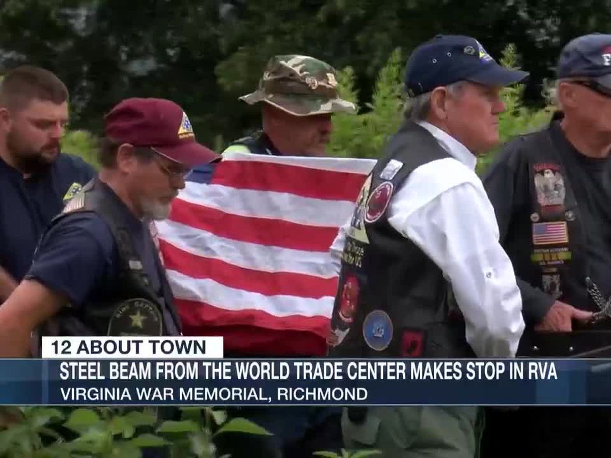 Steel beam from World Trade Center makes stop in RVA