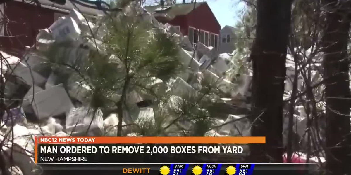 Man ordered to remove 2,000 boxes from yard