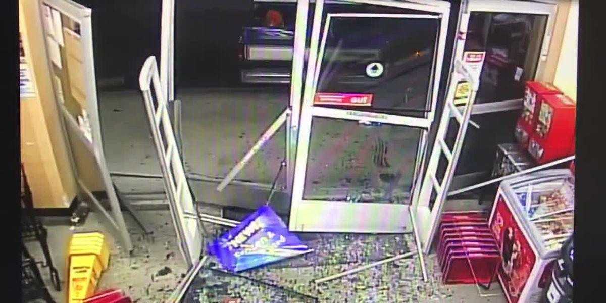WATCH: Surveillance video shows stolen truck ram into SC Family Dollar location