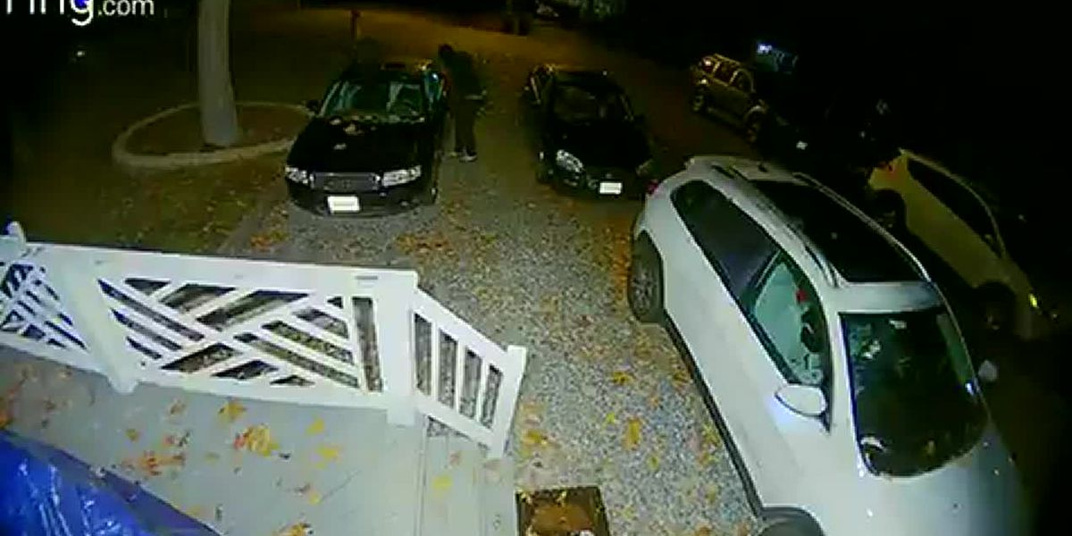 Caught on camera: Two suspects steal handguns, electronics out of unlocked vehicles