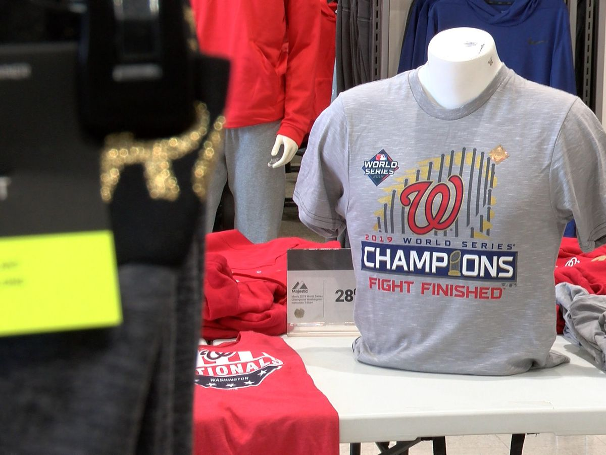 Nats World Series gear available at Dick's Sporting Goods in Chesterfield