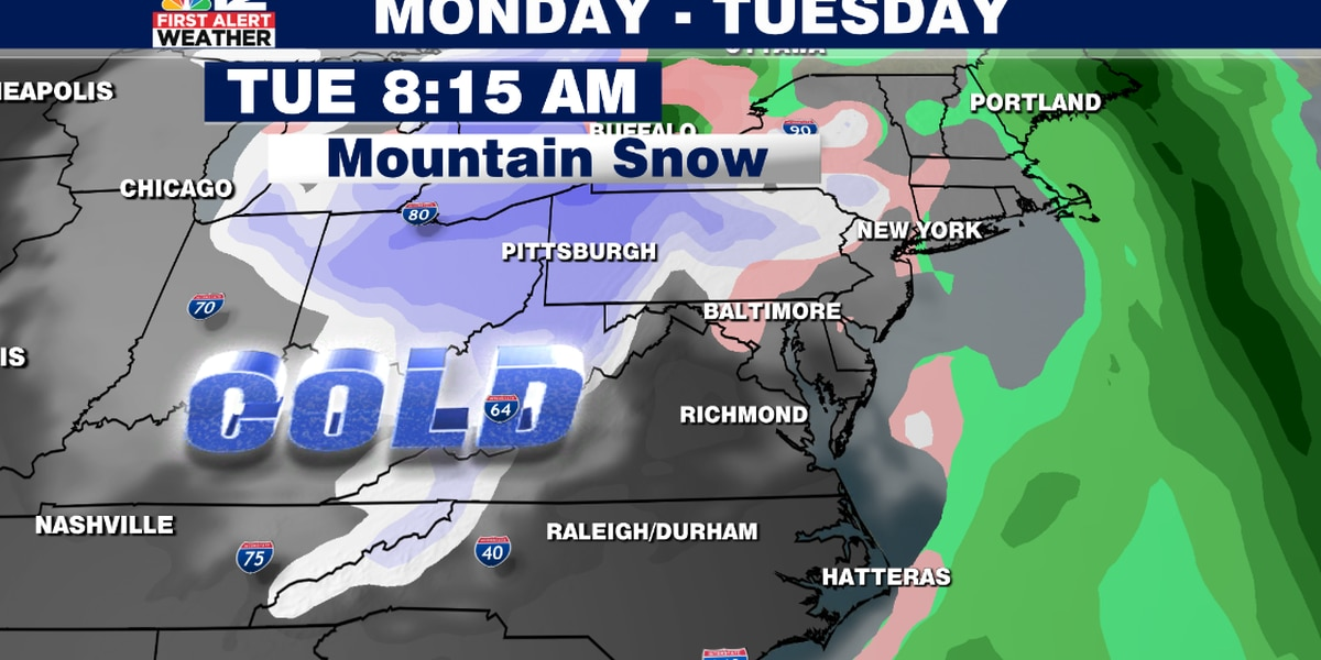 Cold blast likely in Virginia to start off December