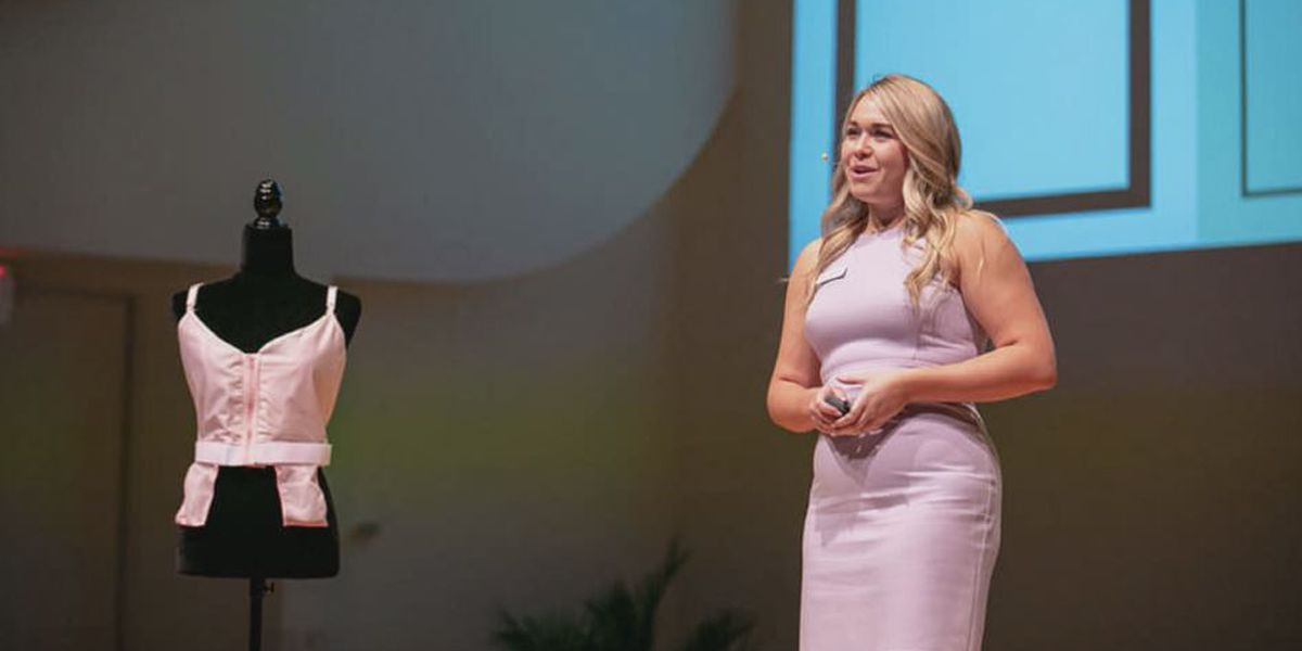 Salisbury teen invents special bra for women after breast surgery