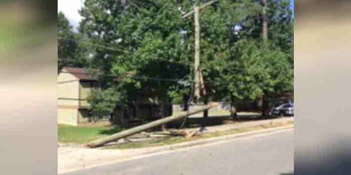 1 injured, power pole downed in Henrico crash
