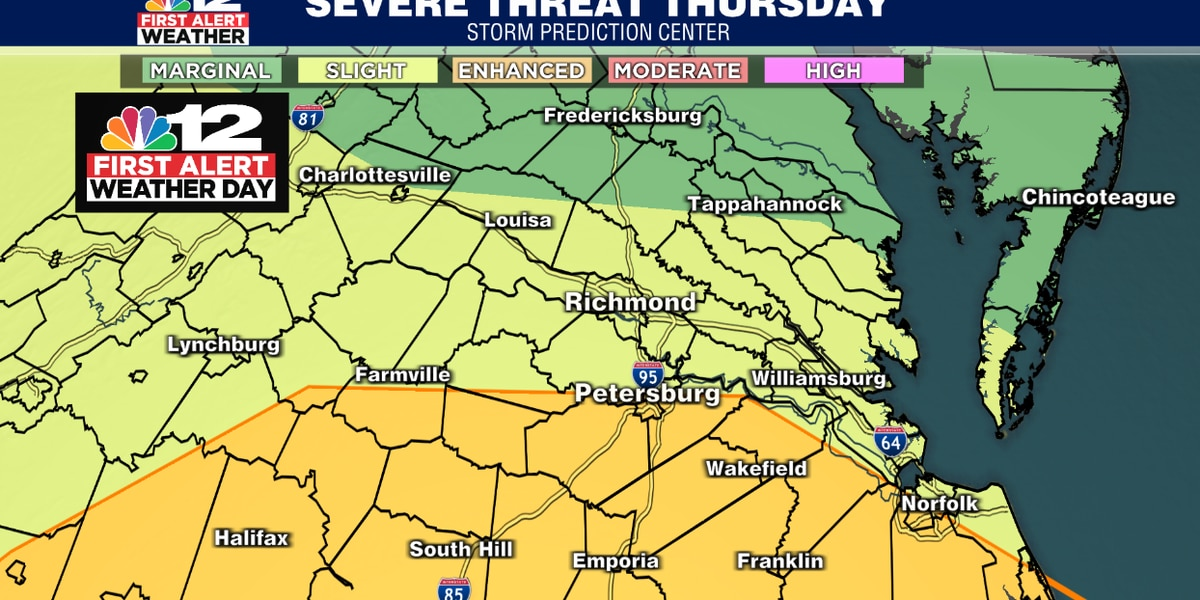 First Alert Weather Day: Severe weather watches issued for southern Va.