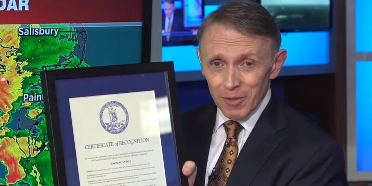 Gov. Northam declares March 31, 2021, Jim Duncan Day in Virginia