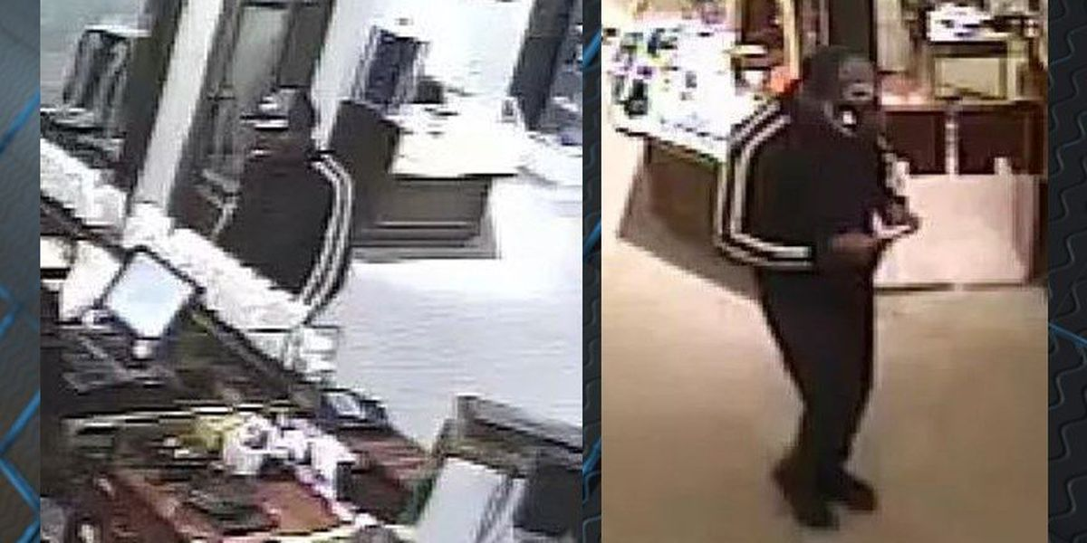 Diamond thief flees jewelry store in Southpark Mall