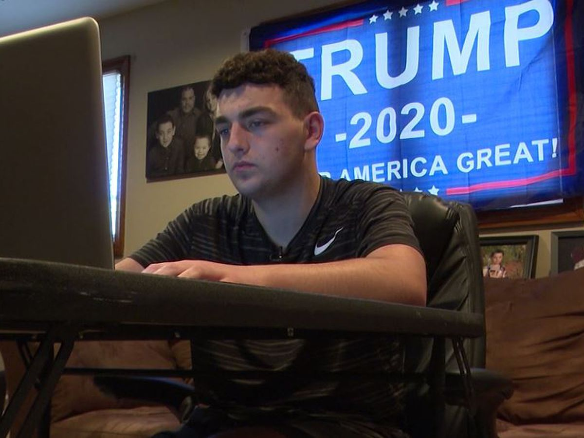 High school student told to remove Trump flag from wall during virtual class