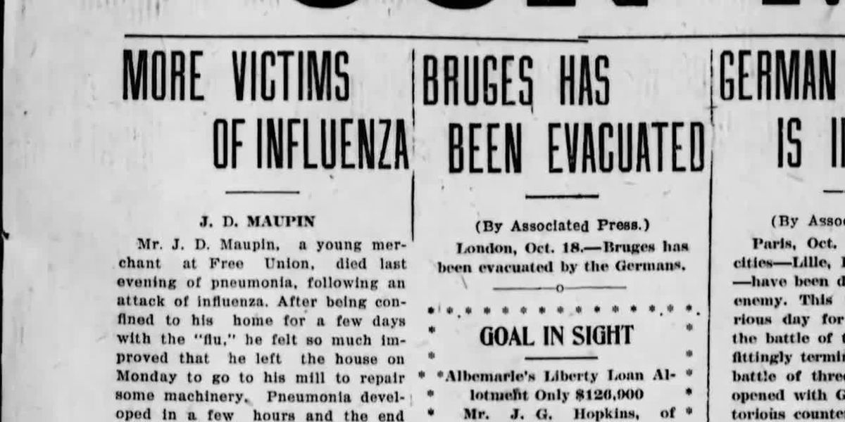 COVID-19 reveals lessons learned and lost from deadly 1918 flu pandemic in central Va.