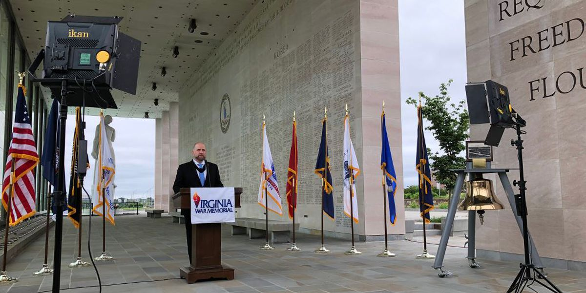 Virginia War Memorial holds virtual Memorial Day ceremony for first time in 64 years