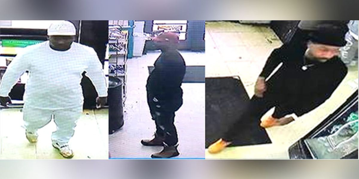Three men sought in game machine larceny, police say