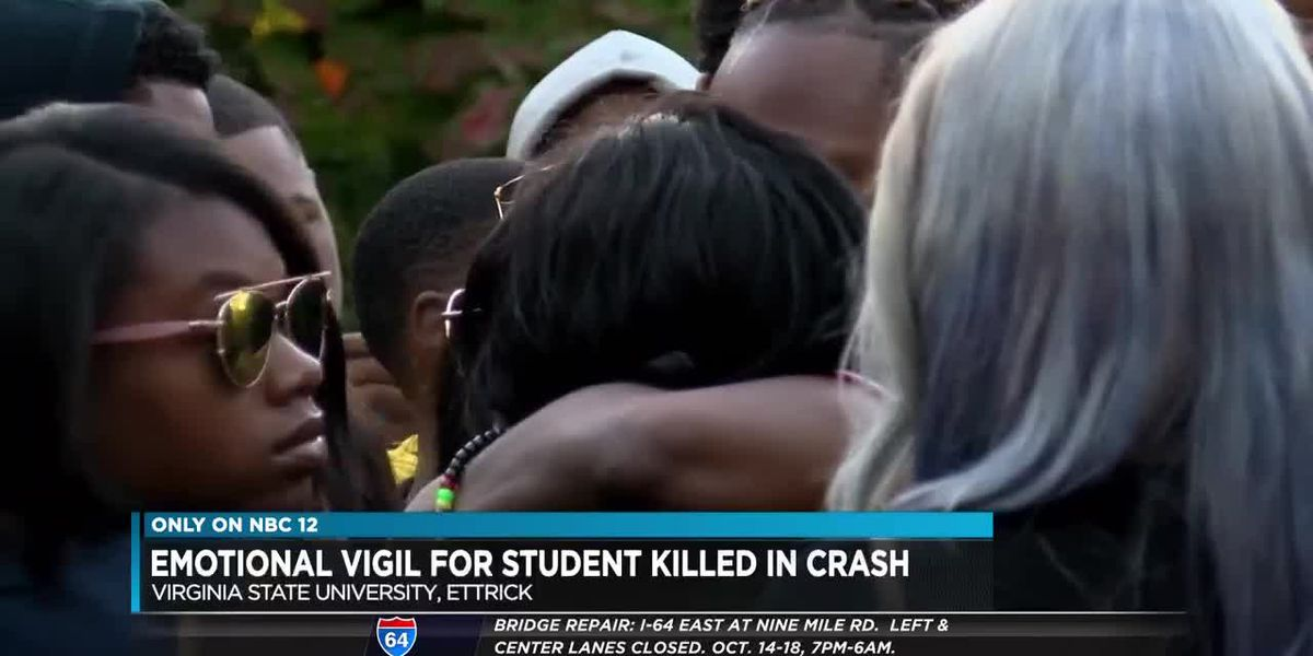 Vigil held for VSU student killed in crash