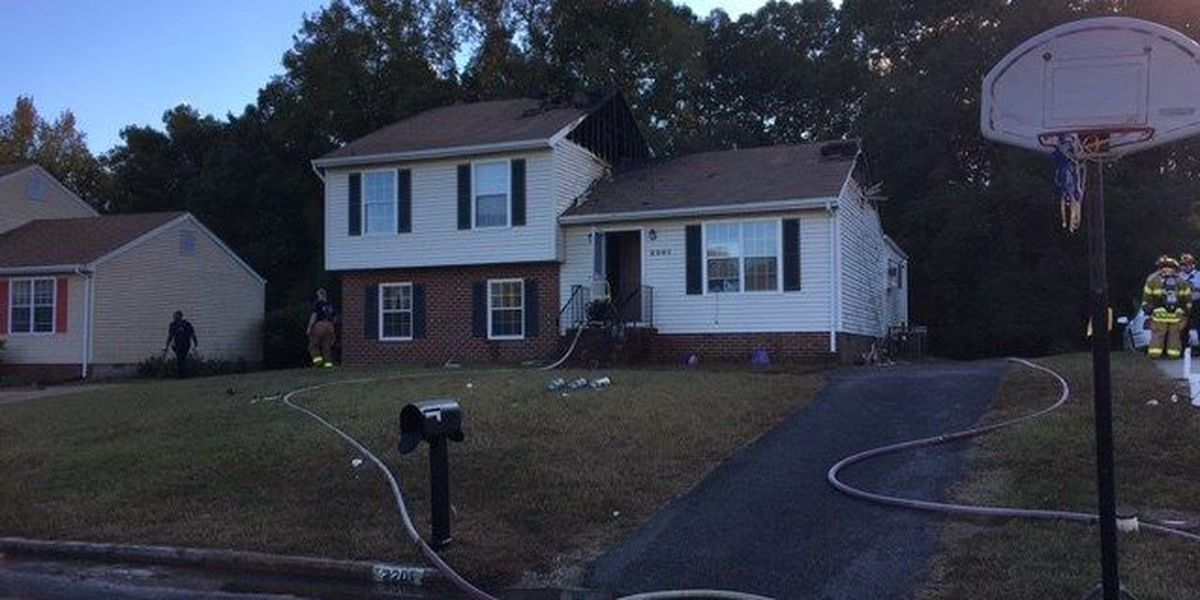 Crews battle flames at Henrico home