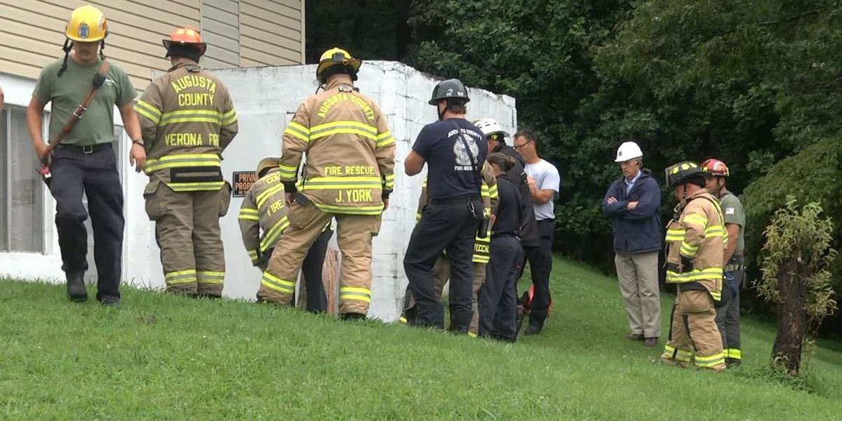 Basement partially collapses in Augusta County during heavy rains