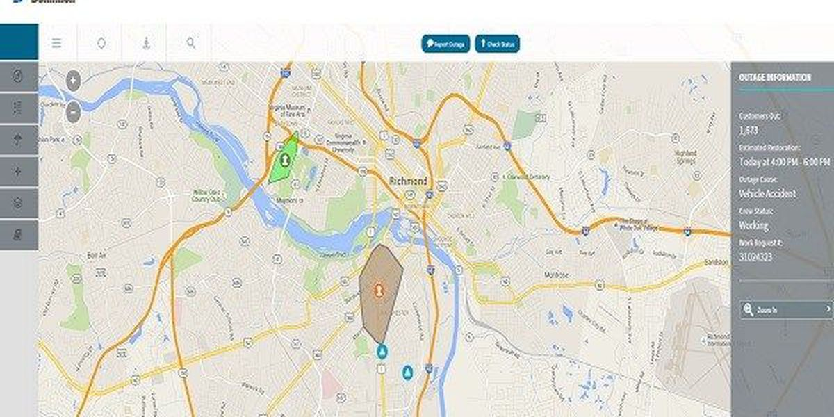 Accident knocks out power for more than a thousand in Richmond