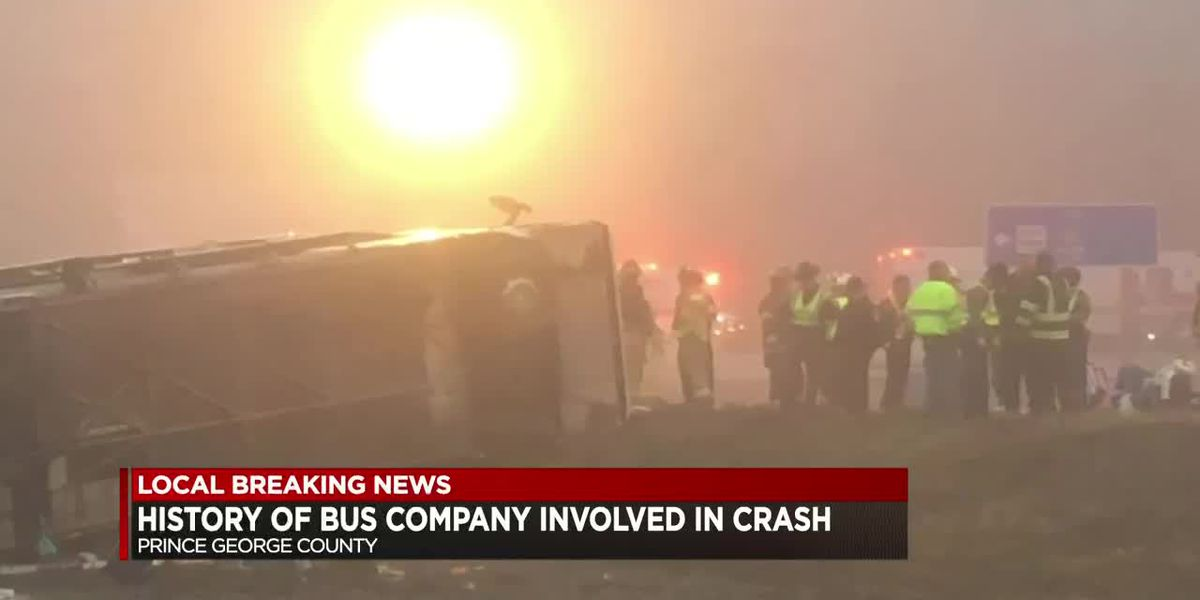 History of bus company involved in crash