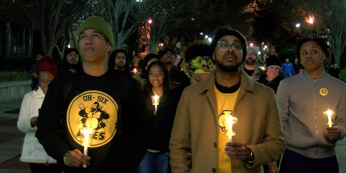 Students march down Broad St. to memorialize MLK