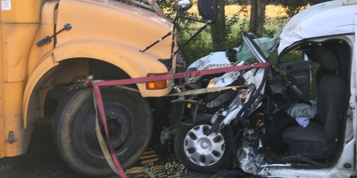 1 injured in head-on crash involving Hanover school bus