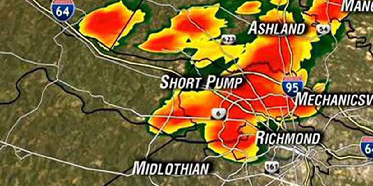 Storms persist into the night for parts of Central Virginia