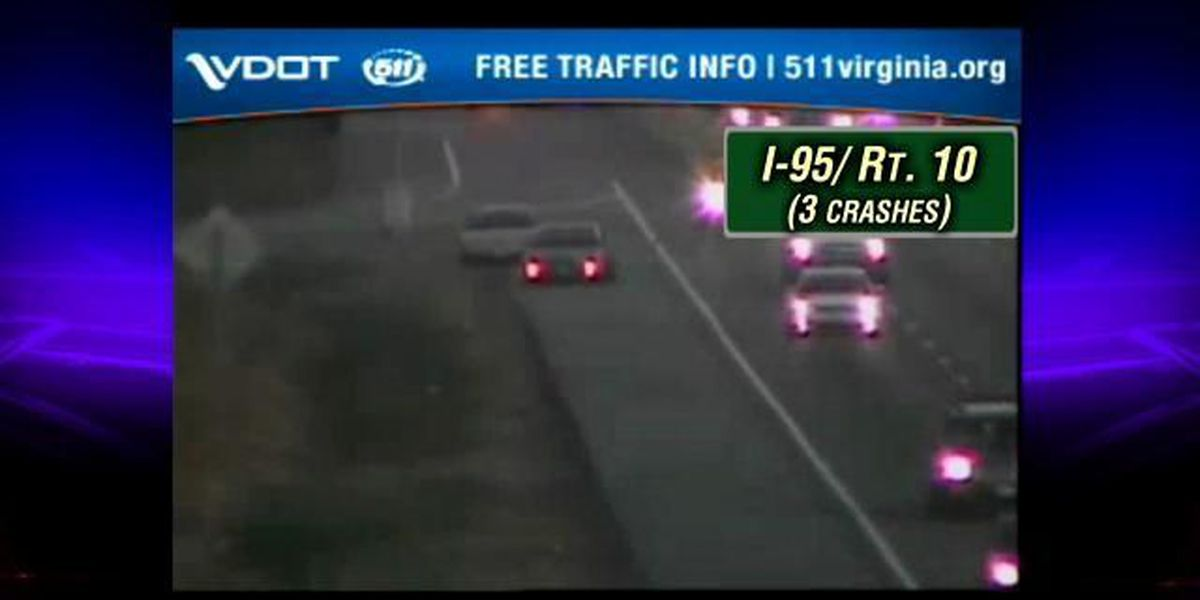 TRAFFIC ALERT: Multiple crashes on I-95S in Chesterfield