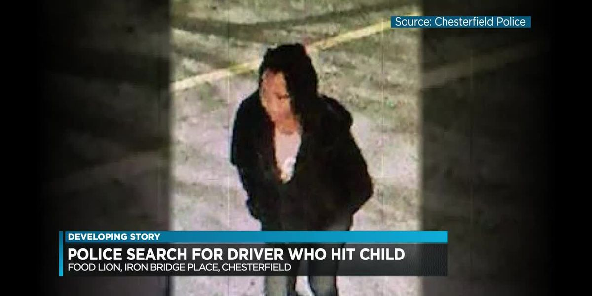 Police search for driver who hit child