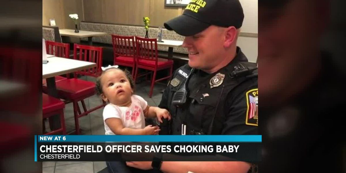 Chesterfield officer saves choking baby's life