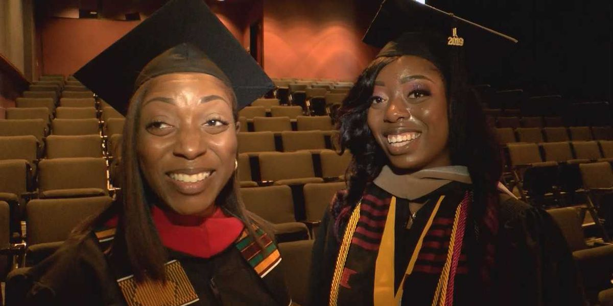 Mother, daughter walk across stage together at VUU commencement ceremony