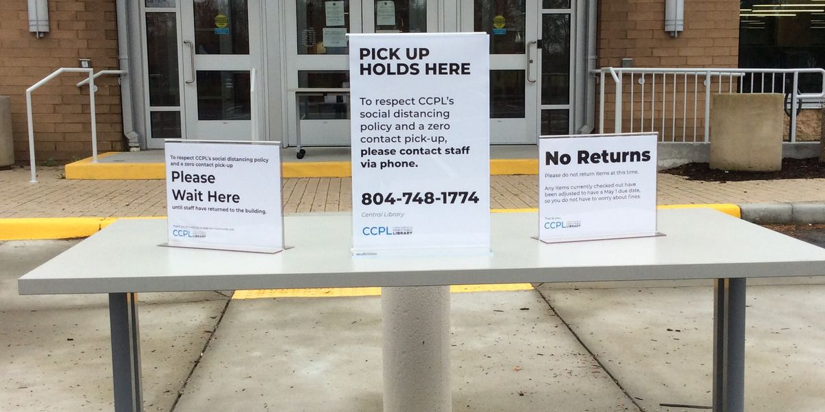 Chesterfield County Public Library offering curbside pick-up