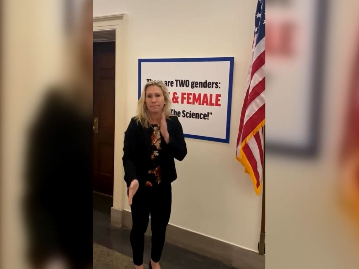 Rep. Greene posts gender sign in response to Newman's trans pride flag