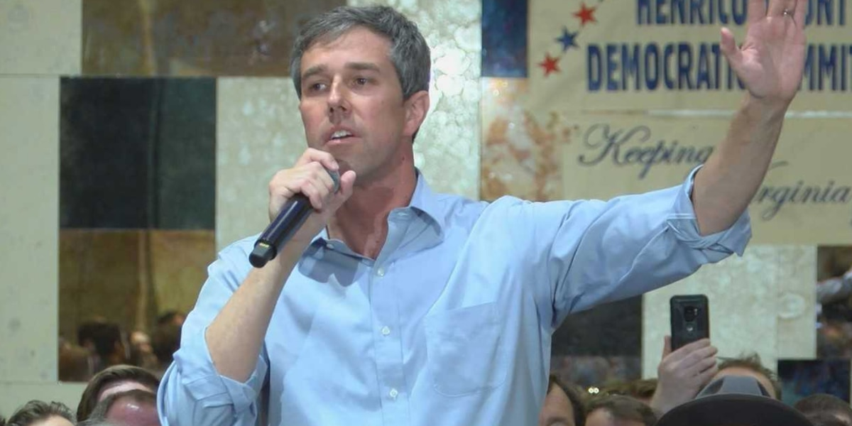 Beto O'Rourke rallies hundreds of voters at Henrico campaign stop
